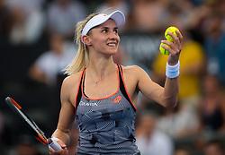 January 5, 2019 - Brisbane, AUSTRALIA - Lesia Tsurenko of the Ukraine celebrates making the final of the 2019 Brisbane International WTA Premier tennis tournament (Credit Image: © AFP7 via ZUMA Wire)