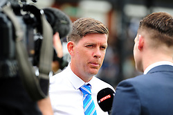 Darrell Clarke manager of Bristol Rovers is interviewed by Sky Sports - Mandatory by-line: Dougie Allward/JMP - 14/08/2016 - FOOTBALL - Memorial Stadium - Bristol, England - Bristol Rovers v Oxford United - Sky Bet League One