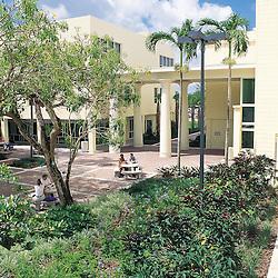 Patio inside the University of Miami School of Law