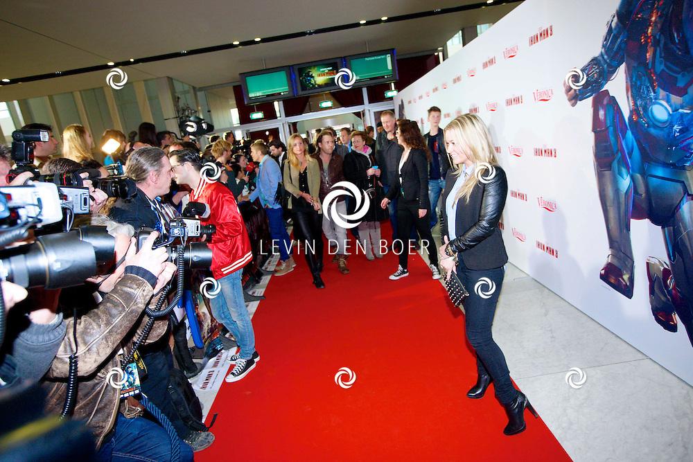AMSTERDAM - In het Rai theater is de filmpremiere van Iron Man 3. Met op de foto  Ingrid Jansen. FOTO LEVIN DEN BOER - PERSFOTO.NU
