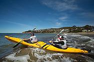 Team Red Bull (Ken Wallace and Courtney Atkinson). Adventure Racing. Swisse Mark Webber Challenge 2013. Hobart, Tasmania, Australia. 01/12/2013. Photo By Lucas Wroe