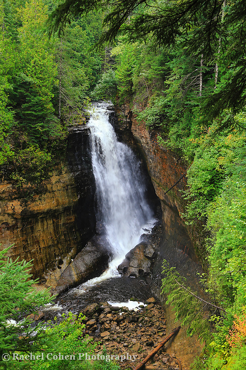 &quot;Miners Falls&quot; <br /> <br /> Scenic Miners Falls in Pictured Rocks National Lakeshore near Munising Michigan!!<br /> <br /> Waterfalls by Rachel Cohen