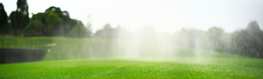 Watering the grass courts of Wimbledon.