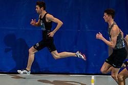 Maarten Plaum in action on 800 meter during the Dutch Indoor Athletics Championship on February 23, 2020 in Omnisport De Voorwaarts, Apeldoorn