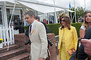 ROWAN ATKINSON; SUNETRA ATKINSON, Ladies Day, Glorious Goodwood. Goodwood. August 2, 2012