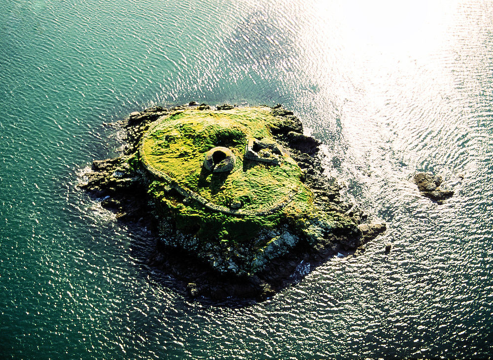 Celtic Christian monastic hermit cell settlement ruin on Church Island near Beginish and Cahirciveen, County Kerry, Ireland.