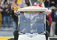 November 21, 2009: Iowa offensive lineman Dace Richardson (78) is introduced as part of senior day before the Iowa Hawkeyes 12-0 win over the Minnesota Golden Gophers at Kinnick Stadium in Iowa City, Iowa on November 21, 2009.