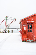 Although the lobster shack at Five Islands in Georgetown is closed, the boats are still in the water and lobstermen are still hauling in bugs this time of year.