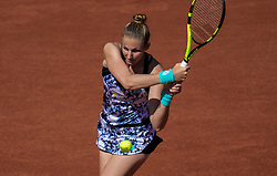 May 29, 2018 - Paris, France - Kristyna Pliskova of Czech Republic returns the ball to Serena Williams of United States during the first round at Roland Garros Grand Slam Tournament - Day 3 on May 29, 2018 in Paris, France. (Credit Image: © Robert Szaniszlo/NurPhoto via ZUMA Press)