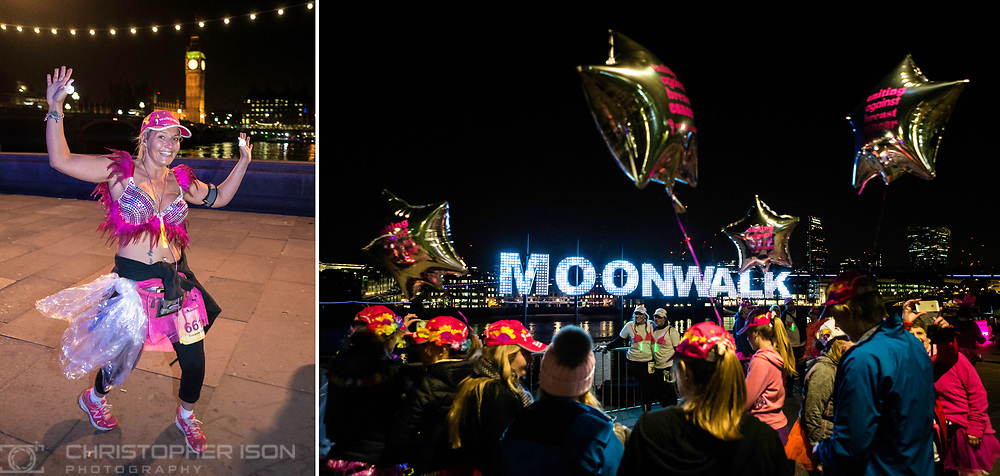 Uniting against breast cancer, men and women take part in the annual MoonWalk London event.<br /> Picture date: Sunday May 15, 2016.<br /> Photograph by Christopher Ison &copy;<br /> 07544044177<br /> chris@christopherison.com<br /> www.christopherison.com