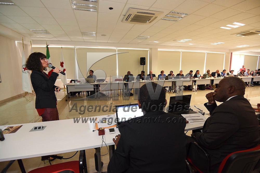 Toluca, México (Noviembre 07, 2016).- Representantes del Movimiento internacional de la Cruz Roja y de la Media Luna Roja de 25 países de América y el Caribe participaron en la Primera Reunión Regional Sobre Migración, teniendo como sede el CENCAD.  Agencia MVT / Crisanta Espinosa