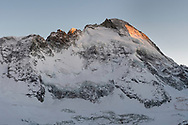 The north face of the Dent d'Herens from the Schönbielhütte, Valais, Switzerland