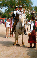 Gypsey Festival with Camargue horses at the Festival of Saintes Maries de la Mer, South France