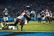 January 3, 2016: Carolina Panthers vs Tampa Bay Buccaneers. Funchess, Devin scores a touchdown