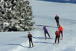 Cross-country skier at Rogla,  on January 17, 2009, in Rogla, Slovenia.  (Photo by Vid Ponikvar / Sportida)