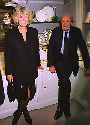 MRS CAMILLA PARKER BOWLES and her father MAJOR BRUCE SHAND, at a party in London on 13th October 1998.MKT 182