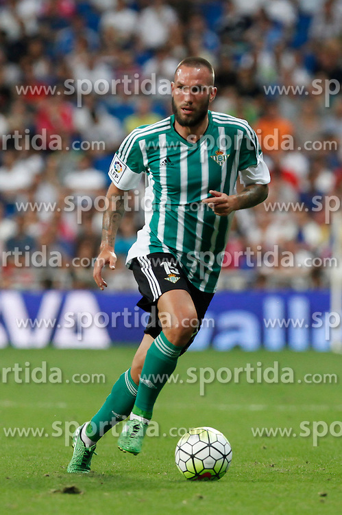 29.08.2015, Estadio Santiago Bernabeu, Madrid, ESP, Primera Division, Real Madrid vs Real Betis, 2. Runde, im Bild Real Betis&acute;s Digard // during the Spanish Primera Division 2nd round match between Real Madrid and Real Betis at the Estadio Santiago Bernabeu in Madrid, Spain on 2015/08/29. EXPA Pictures &copy; 2015, PhotoCredit: EXPA/ Alterphotos/ Victor Blanco<br /> <br /> *****ATTENTION - OUT of ESP, SUI*****