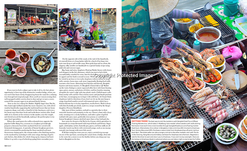 Feast Magazine (Australia) feature on Bangkok's floating markets.