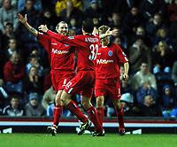 Fotball<br /> England 2004/2005<br /> Foto: BPI/Digitalsport<br /> NORWAY ONLY<br /> <br /> 21/11/2004 <br /> Blackburn Rovers v Birmingham City<br /> FA Barclays Premiership, Ewood Park<br /> <br /> Robbie Savage celebrates his goal with Darren Anderton