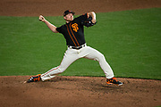San Francisco Giants relief pitcher Mark Melancon (41) pitches against the Oakland Athletics at AT&T Park in San Francisco, California, on March 30, 2017. (Stan Olszewski/Special to S.F. Examiner)