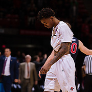 06 March 2019: San Diego State men's basketball closed out it's regular season home schedule with a 76-74 loss to Fresno State Wednesday night at Viejas Arena.