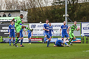 Forest Green Rovers Ethan Pinnock(16) shoots at goal misses the target during the Vanarama National League match between Forest Green Rovers and Macclesfield Town at the New Lawn, Forest Green, United Kingdom on 4 March 2017. Photo by Shane Healey.