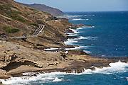 Oahu. The rocky coastline between Hanauma Bay and Sandy Beach.