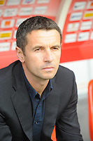 FOOTBALL - FRENCH CHAMPIONSHIP 2011/2012 - L1 - STADE BRESTOIS 29 v OLYMPIQUE LYONNAIS - 20/08/2011 - PHOTO PASCAL ALLEE / DPPI - REMI GARDE THE HEAD COACH OF LYON TEAM
