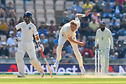 Stuart Broad of England bowling during the 4th day of the 4th SpecSavers International Test Match 2018 match between England and India at the Ageas Bowl, Southampton, United Kingdom on 2 September 2018.