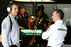 Paddy Lowe (GBR) Mercedes AMG F1 Executive Director (Technical) (Right).<br /> 08.10.2016. Formula 1 World Championship, Rd 17, Japanese Grand Prix, Suzuka, Japan, Qualifying Day.<br />  Copyright: Bearne / XPB Images / action press