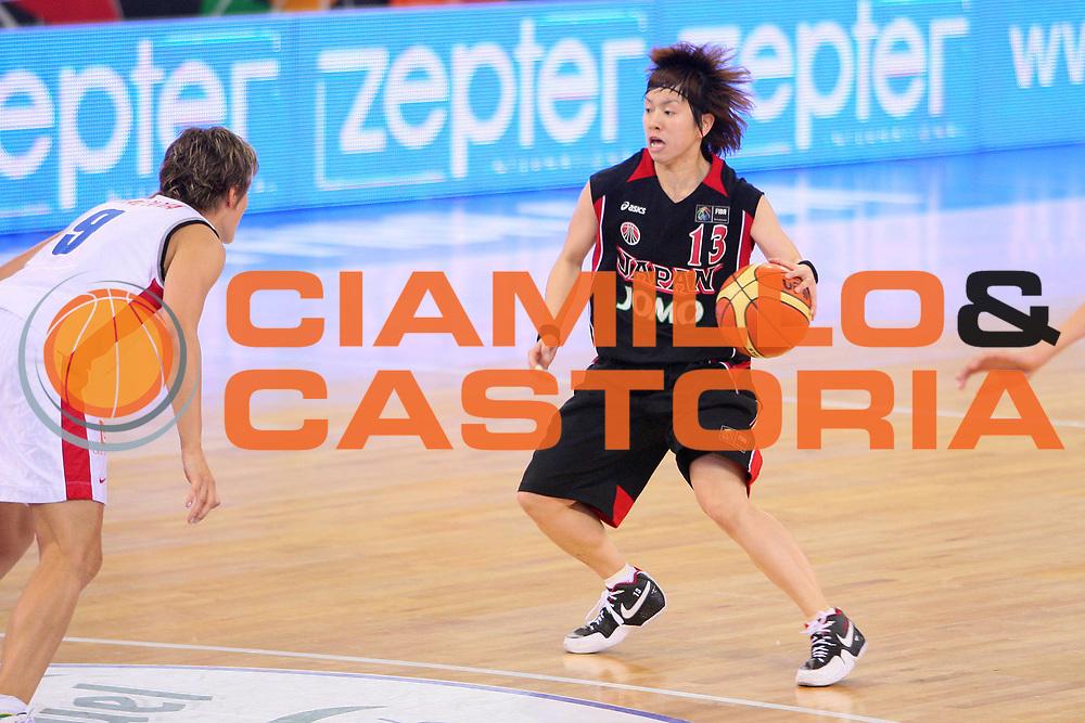 DESCRIZIONE : Madrid 2008 Fiba Olympic Qualifying Tournament For Women Quater Finals Czech Republic Japan <br /> GIOCATORE : Yuko Oga <br /> SQUADRA : Japan Giappone <br /> EVENTO : 2008 Fiba Olympic Qualifying Tournament For Women <br /> GARA : Czech Republic Japan Repubblica Ceca Giappone <br /> DATA : 13/06/2008 <br /> CATEGORIA : Palleggio <br /> SPORT : Pallacanestro <br /> AUTORE : Agenzia Ciamillo-Castoria/S.Silvestri <br /> Galleria : 2008 Fiba Olympic Qualifying Tournament For Women <br /> Fotonotizia : Madrid 2008 Fiba Olympic Qualifying Tournament For Women Quater Finals Czech Republic Japan <br /> Predefinita :