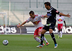 21.08.2011, Red Bull Arena, Salzburg, AUT, 1. FBL, Red Bull Salzburg vs Sturm Graz, im Bild Zweikampf zwischen Stefan Savic, (FC Red Bull Salzburg, #38) und Haris Bukva, (SK Puntigamer Sturm Graz, #09), // during the Austrian Bundesliga Match, Red Bull Salzburg vs Sk Sturm Graz, Red Bull Arena, Salzburg, 2011-08-21, EXPA Pictures © 2011, PhotoCredit: EXPA/ P.Rinderer