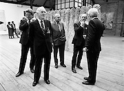 19/08/1988<br /> 08/19/1988<br /> 19 August 1988<br /> Taoiseach visits ROSC '88 at the Guinness Hop Store, Dublin.  Taoiseach Charles Haughey listens as Pat Murphy ROSC Chairman, explains an exhibit on the right, while Mr Brian Slowey,  Managing Director, Guinness,Ireland (second from left) admires an exhibit.