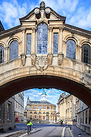 Hertford Bridge, Oxford, spanning New College Lane by Thomas Jackson built in 1914 often referred to as the Bridge of Sighs