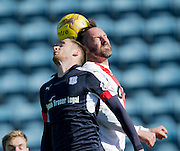 Dundee&rsquo;s Nick Ross and Kilmarnock&rsquo;s Kris Boyd - Dundee v Kilmarnock in the Ladbrokes Scottish Premiership at Dens Park, Dundee. Photo: David Young<br /> <br />  - &copy; David Young - www.davidyoungphoto.co.uk - email: davidyoungphoto@gmail.com