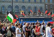 Demonsration 1 maj passerar slottet