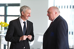 NEWPORT, WALES - Saturday, April 20, 2013: Ian Rush and FAW President Trefor Lloyd-Hughes at the opening of the FAW National Development Centre in Newport. (Pic by David Rawcliffe/Propaganda)