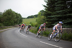 Clara Koppenburg (GER) of Cervélo-Bigla Cycling Team tackles a fast descent during the Aviva Women's Tour 2016 - Stage 3. A 109.6 km road race from Ashbourne to Chesterfield, UK on June 17th 2016.