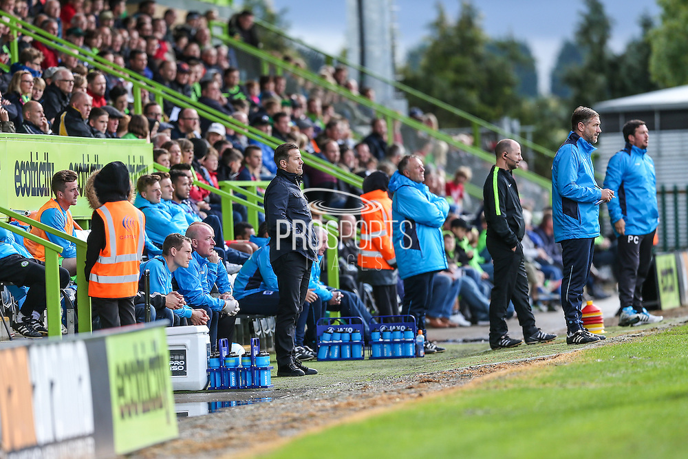 Forest Green Rovers manager, Mark Cooper during the Vanarama National League match between Forest Green Rovers and Barrow at the New Lawn, Forest Green, United Kingdom on 1 October 2016. Photo by Shane Healey.
