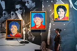 © Licensed to London News Pictures. 27/06/2018. London, UK. Artwork featuring Michale Jackson (1984) by artist Andy Warhol is shown as part of the Michael Jackson: On the Wall exhibition at the National Portrait Gallery. Photo credit: Ray Tang/LNP