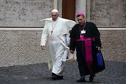 October 5,  2018  - Vatican City (Holy See)  POPE FRANCIS  at 15th ordinary general assembly of the Synod of Bishops  at the Vatican  (Credit Image: © Evandro Inetti/ZUMA Wire)