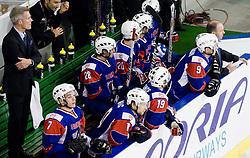 Head Coach of Slovenia John Harrington on slovenian bench at IIHF Ice-hockey World Championships Division I Group B match between National teams of Slovenia and Korea, on April 21, 2010, in Tivoli hall, Ljubljana, Slovenia. (Photo by Matic Klansek Velej / Sportida)