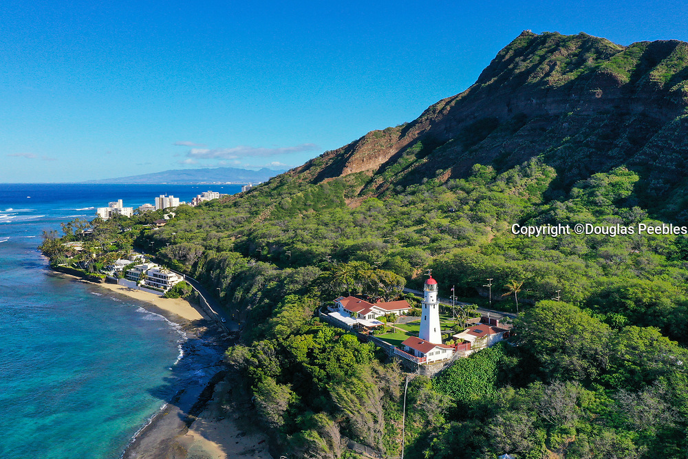 Diamond Head Lighthouse, Waikiki, Honolulu, Oahu, Hawaii, USA