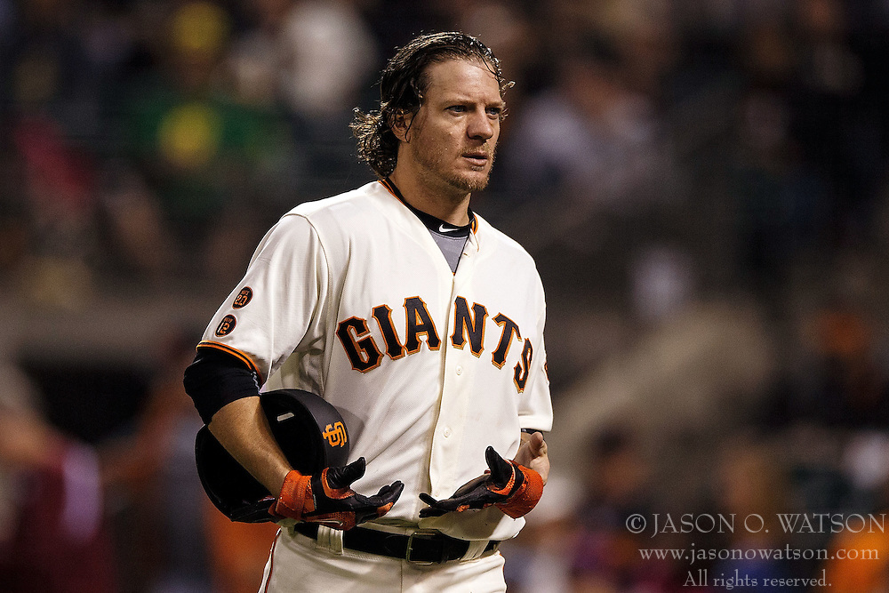 SAN FRANCISCO, CA - APRIL 18: Jake Peavy #22 of the San Francisco Giants returns to the dugout during the fifth inning against the Arizona Diamondbacks at AT&T Park on April 18, 2016 in San Francisco, California. The Arizona Diamondbacks defeated the San Francisco Giants 9-7 in 11 innings.  (Photo by Jason O. Watson/Getty Images) *** Local Caption *** Jake Peavy