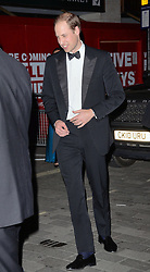 HRH Prince William, Duke Of Cambridge  attends The Royal Variety Show at The London Palladium, Argyll Street, London on Thursday 13th November 2014