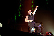 Disturbed performing at Uproar Festival at Nationwide Arena in Columbus, OH on August 24, 2010