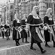 London Oct 1st The start of the legal year is marked by a procession of judges arriving at Westminster Abbey from the Royal Courts of Justice in  The Strand for a religious service, followed by the Lord Chancellorís ëbreakfastí at Westminster Hall in the  Houses of Parliament.       <br /> <br /> History<br /> <br /> The service in Westminster Abbey dates back to the Middle Ages when judges prayed for guidance at the start of the legal term. Judges, whose courts were held in Westminster Hall, left the City and walked to the Abbey to take part in the service.<br /> Before the Reformation it was customary to fast for several hours before taking communion during the service. After the ceremony the Lord Chancellor would offer the judge some food to break their fast before they took their seats in courts, hence the term ëbreakfastí.