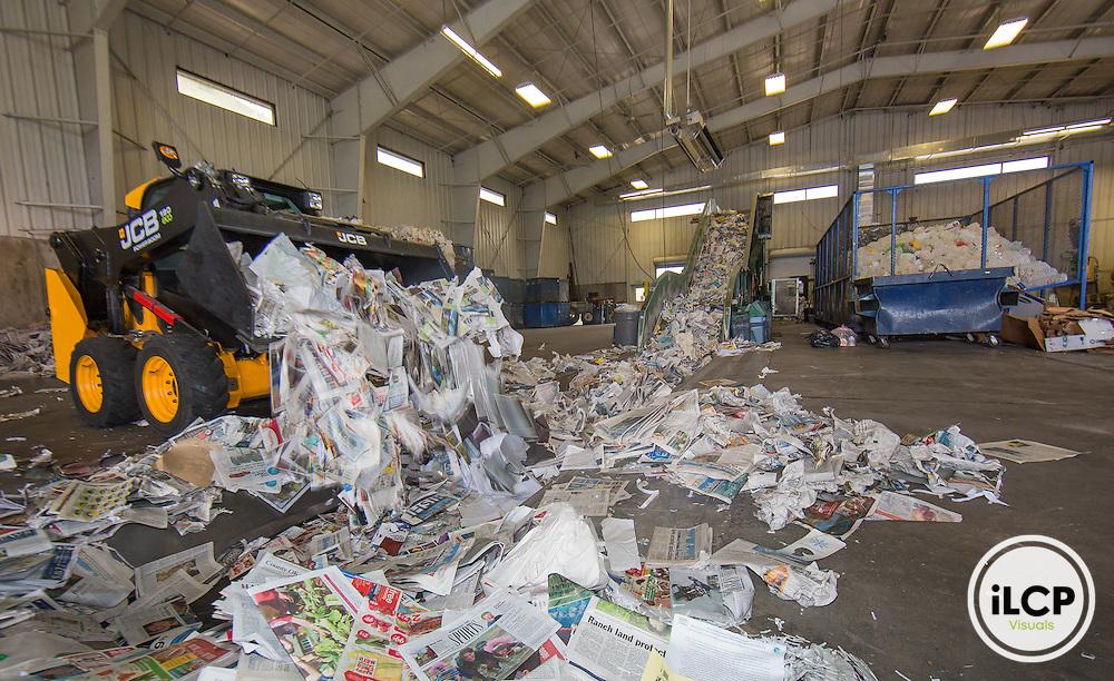 Teton County recycling facility, Wyoming.