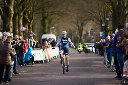 Audrey Cordon-Ragot (FRA) wins at Drentse 8 van Westerveld 2019, a 145 km road race starting and finishing in Dwingeloo, Netherlands on March 15, 2019. Photo by Sean Robinson/velofocus.com