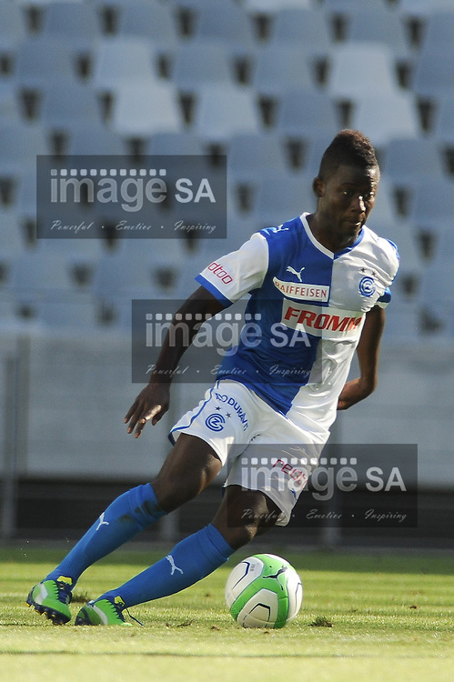 CAPE TOWN, South Africa - Monday 21 January 2013, Mohamed Coulibaly of Grasshopper Club Zurich during the soccer/football match Grasshopper Club Zurich (Switzerland) and Jomo Cosmos at the Cape Town stadium..Photo by Roger Sedres/ImageSA